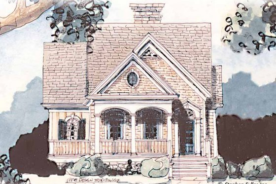 Farmhouse Exterior - Front Elevation Plan #429-38
