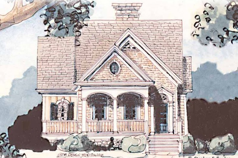 Dream House Plan - Farmhouse Exterior - Front Elevation Plan #429-38