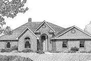 Traditional Style House Plan - 4 Beds 2 Baths 2128 Sq/Ft Plan #11-111 Exterior - Front Elevation