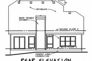 Craftsman Style House Plan - 3 Beds 2.5 Baths 1699 Sq/Ft Plan #20-2236 Exterior - Rear Elevation