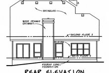 Home Plan - Craftsman Exterior - Rear Elevation Plan #20-2236