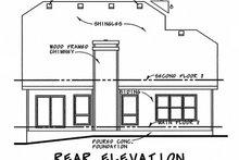 Dream House Plan - Craftsman Exterior - Rear Elevation Plan #20-2236