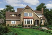 Traditional Style House Plan - 4 Beds 3 Baths 3529 Sq/Ft Plan #48-564 Exterior - Front Elevation