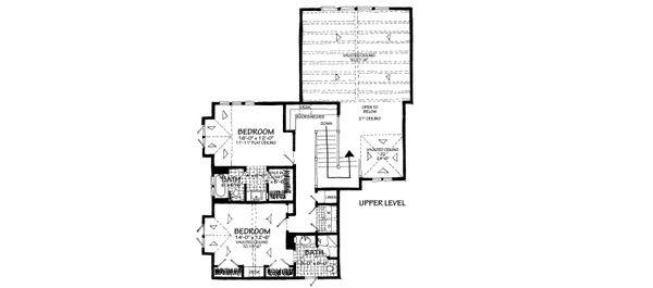 Country Floor Plan - Upper Floor Plan Plan #942-56