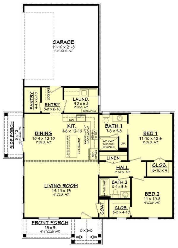 Home Plan - Country Floor Plan - Main Floor Plan #430-239