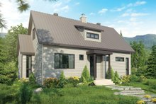 Dream House Plan - Contemporary Exterior - Front Elevation Plan #23-2312