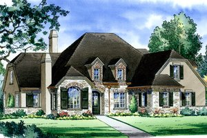 Traditional Exterior - Front Elevation Plan #490-12