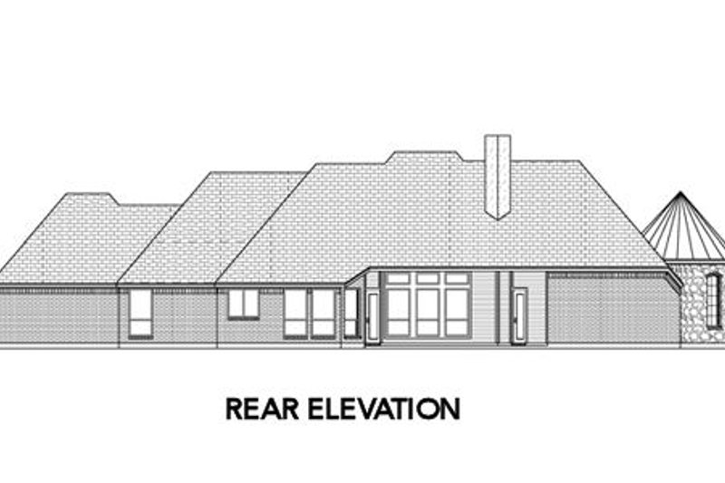 European Exterior - Rear Elevation Plan #84-491 - Houseplans.com