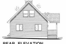 Modern Exterior - Rear Elevation Plan #18-284
