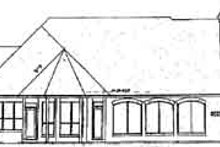 European Exterior - Rear Elevation Plan #52-179