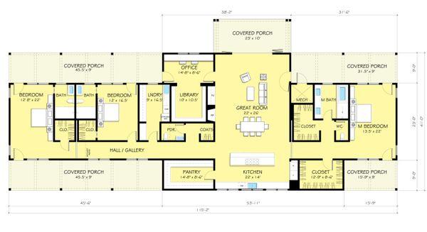 Ranch Floor Plan - Main Floor Plan Plan #888-9