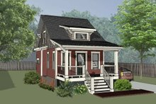 Home Plan - Bungalow Exterior - Front Elevation Plan #79-308