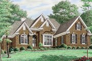 Traditional Style House Plan - 3 Beds 3 Baths 2526 Sq/Ft Plan #34-119 Exterior - Front Elevation