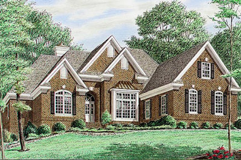 Architectural House Design - Traditional Exterior - Front Elevation Plan #34-119