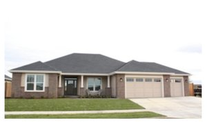 Ranch Exterior - Front Elevation Plan #124-672