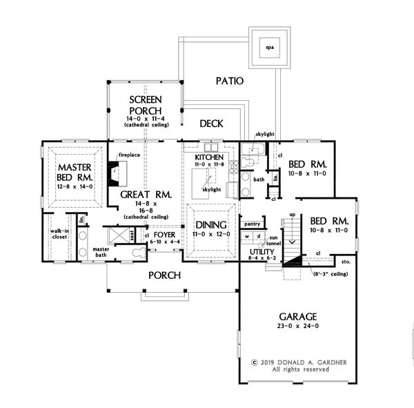 Dream House Plan - Ranch Floor Plan - Main Floor Plan #929-1118