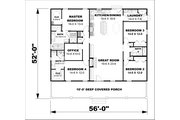 Traditional Style House Plan - 4 Beds 3 Baths 2352 Sq/Ft Plan #44-253