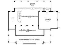 Cottage Floor Plan - Lower Floor Plan Plan #45-583
