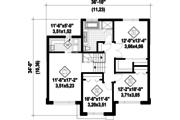 Contemporary Style House Plan - 3 Beds 1 Baths 1831 Sq/Ft Plan #25-4498 Floor Plan - Upper Floor Plan