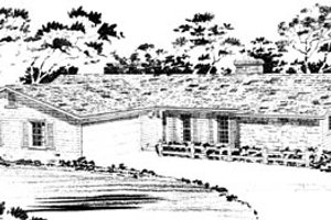 Ranch Exterior - Front Elevation Plan #10-128