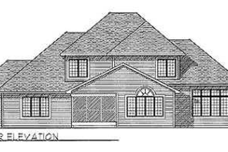 Traditional Exterior - Rear Elevation Plan #70-490 - Houseplans.com