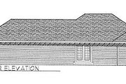 Traditional Style House Plan - 3 Beds 1 Baths 1186 Sq/Ft Plan #70-101 Exterior - Rear Elevation