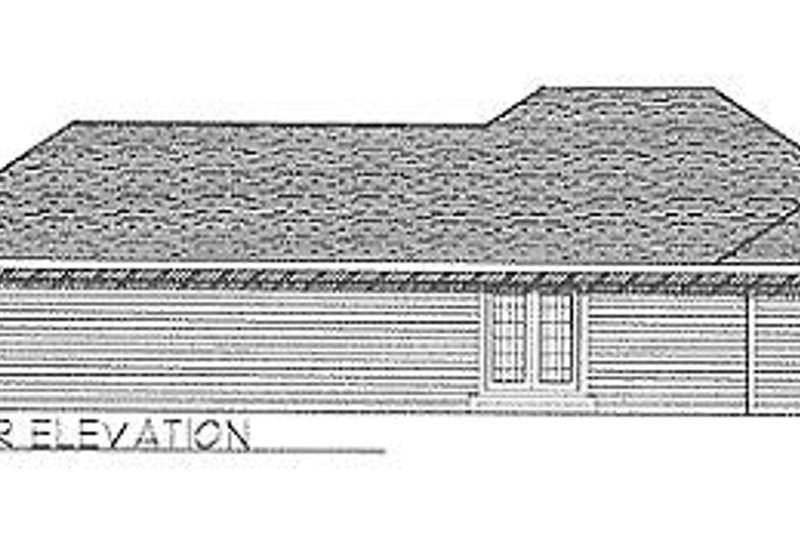 Traditional Exterior - Rear Elevation Plan #70-101 - Houseplans.com