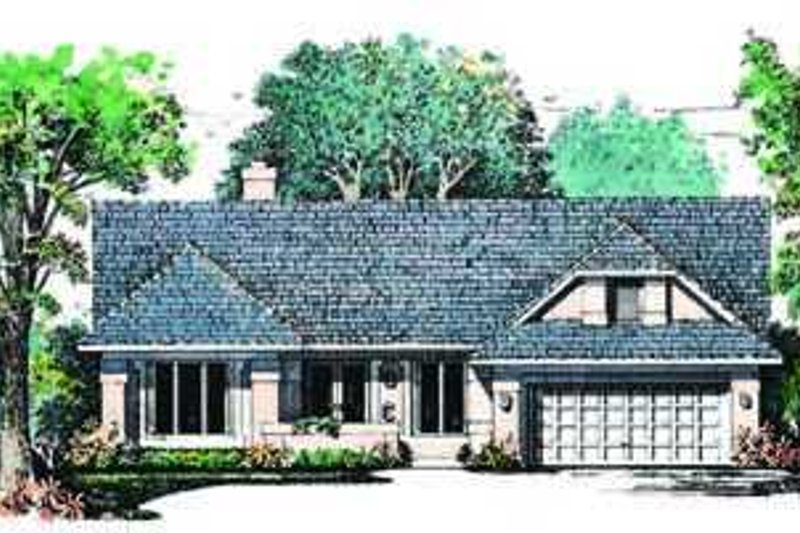 House Plan - 3 Beds 2 Baths 2189 Sq/Ft Plan #72-138 Exterior - Front Elevation