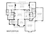 Contemporary Style House Plan - 6 Beds 5.5 Baths 6119 Sq/Ft Plan #920-72 Floor Plan - Main Floor