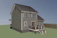 House Plan Design - Farmhouse Exterior - Rear Elevation Plan #79-124