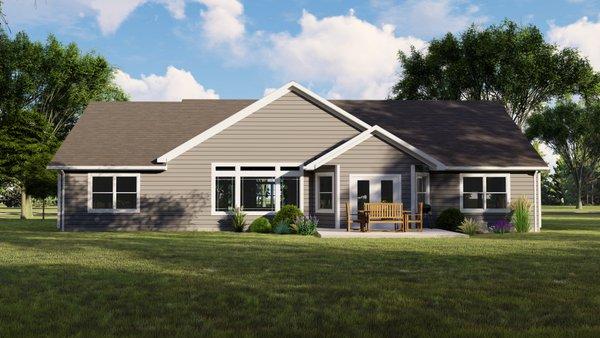 Home Plan - Craftsman Floor Plan - Lower Floor Plan #1064-37