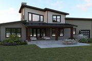 Contemporary Style House Plan - 3 Beds 2.5 Baths 2500 Sq/Ft Plan #1070-44 Exterior - Rear Elevation
