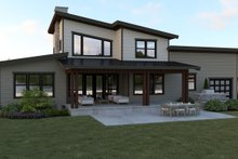 Contemporary Exterior - Rear Elevation Plan #1070-44