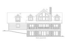 House Design - Craftsman Exterior - Rear Elevation Plan #117-895