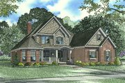 Craftsman Style House Plan - 4 Beds 3 Baths 2852 Sq/Ft Plan #17-2153 Exterior - Front Elevation