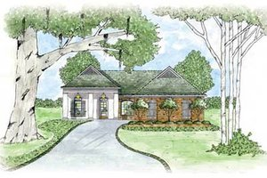 Home Plan - European Exterior - Front Elevation Plan #36-128