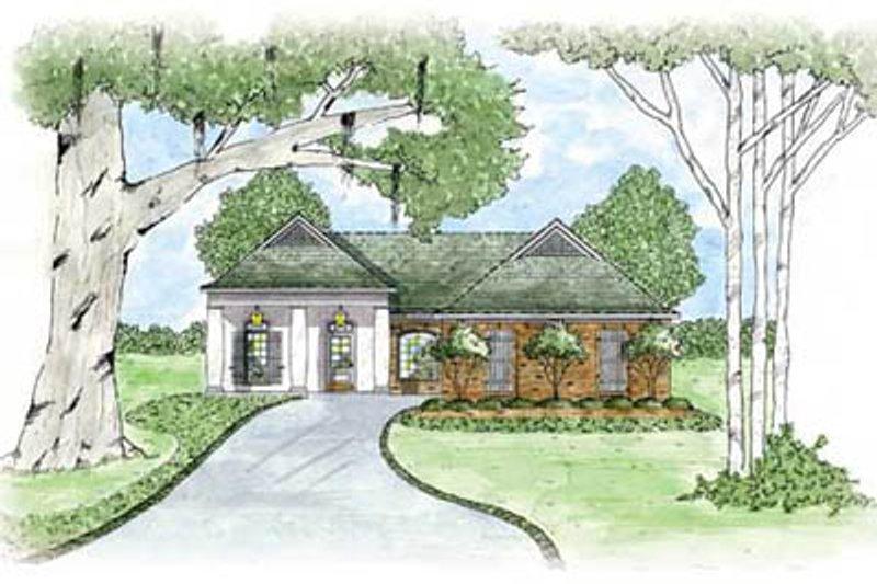 Home Plan Design - European Exterior - Front Elevation Plan #36-128