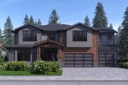 Traditional Style House Plan - 4 Beds 4 Baths 3598 Sq/Ft Plan #1066-52 Exterior - Front Elevation