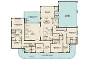 Southern Style House Plan - 3 Beds 3.5 Baths 4139 Sq/Ft Plan #923-84 Floor Plan - Main Floor