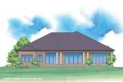 Contemporary Style House Plan - 4 Beds 4 Baths 4460 Sq/Ft Plan #930-520 Exterior - Rear Elevation
