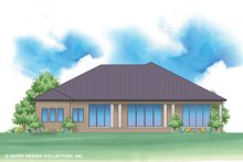 House Design - Contemporary Exterior - Rear Elevation Plan #930-520