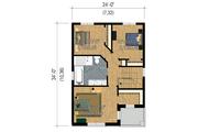 Contemporary Style House Plan - 3 Beds 1 Baths 1536 Sq/Ft Plan #25-4429 Floor Plan - Upper Floor Plan