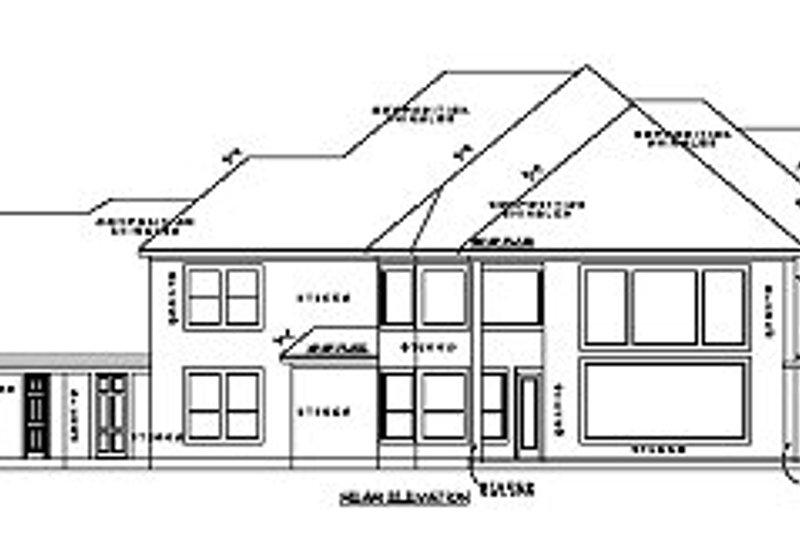 Mediterranean Exterior - Rear Elevation Plan #61-385 - Houseplans.com
