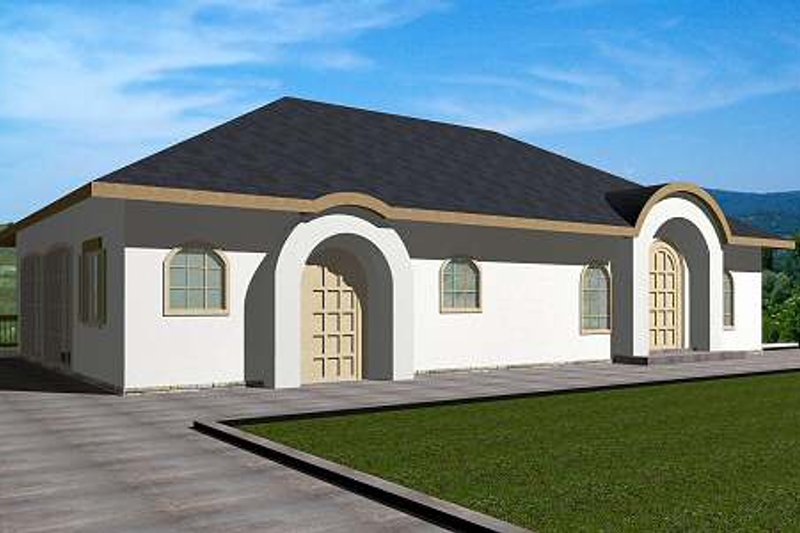 Exterior - Front Elevation Plan #117-570 - Houseplans.com