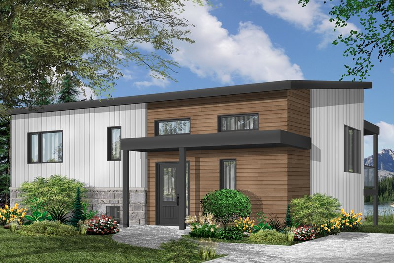 Dream House Plan - Contemporary Exterior - Front Elevation Plan #23-2315