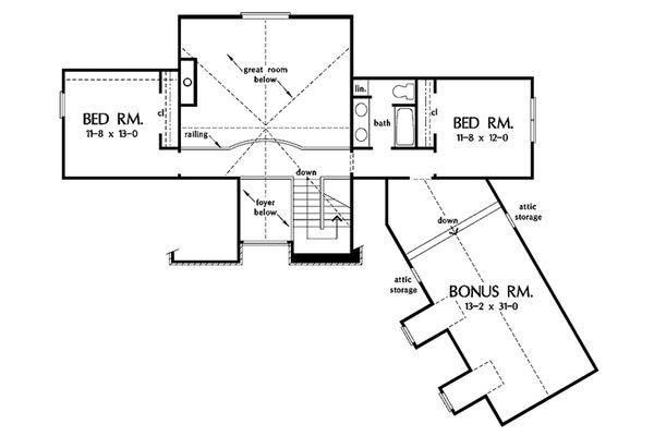 European Floor Plan - Upper Floor Plan #929-41