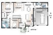 Ranch Style House Plan - 2 Beds 1 Baths 1443 Sq/Ft Plan #23-2652 Floor Plan - Main Floor Plan