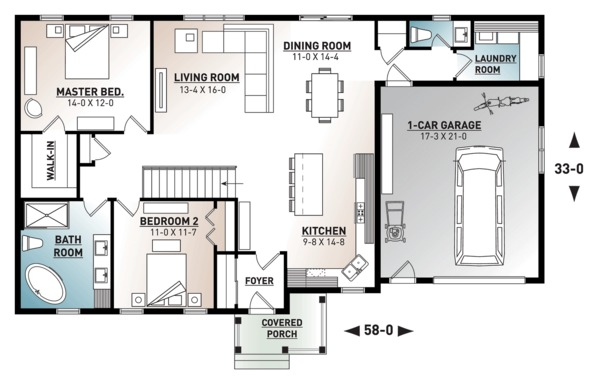 Ranch Floor Plan - Main Floor Plan Plan #23-2652