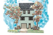 Colonial Exterior - Rear Elevation Plan #72-476