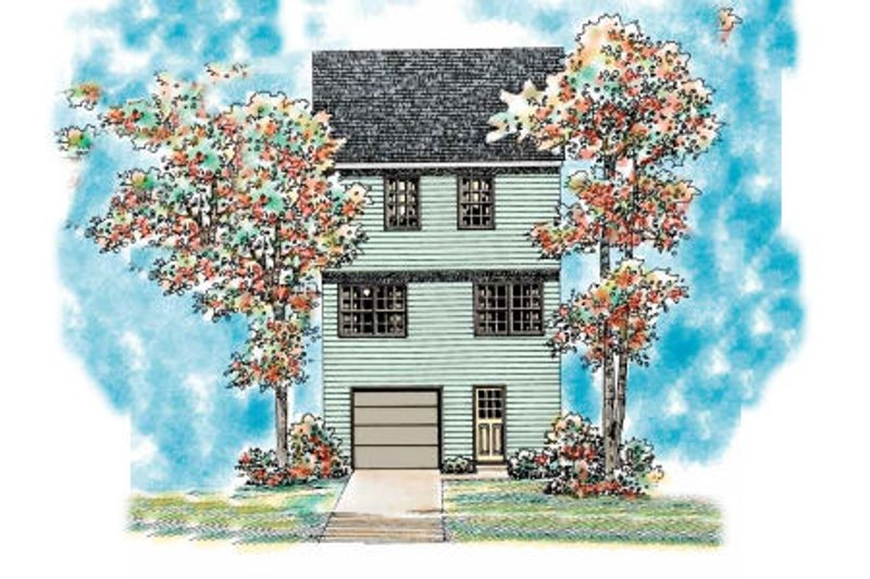 Colonial Exterior - Rear Elevation Plan #72-476 - Houseplans.com